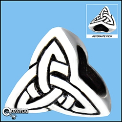 Sterling Silver Celtic Trinity Knot Add-a-Bead (#BQ516)