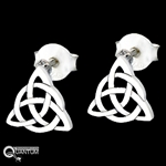Sterling Silver Small Trinity Knot Post Earrings (#BQ522)