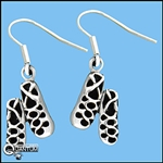 Sterling Silver Irish Soft Dancing Shoe Earrings (#BQ529)