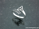 Sterling Silver Trinity Knot Bypass Ring (#BQ532)