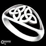 Sterling Silver Double Trinity Knot Ring (#BQ537)