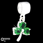 Sterling Silver Wee Shamrock CZ Add-a-Bead (#BQ560)