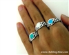 Sterling silver Opal Love Knot Ring ( Bq1006)