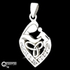 """A Mother's Love""  Sterling Silver Celtic Pendant with Chain (#BQ547)"
