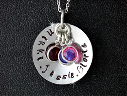 My Lovie's Hand Forged/birthstone Round Necklace(CD4)