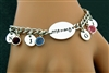 My Lovie's Hand Forged Initial birthstone Charm Bracelet (CD5)