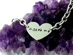 "A Ghra Mo ""I love you"" Carved In my Heart Stainless Steel Heart Bracelet(CIMYBRAC)"