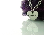"A Ghra mo ""I love you"" Carved in my Heart Stainless Steel Heart Necklace(CIMYNECKAGhramo)"