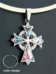 Abalone Family Trinity Cross and Collar (collarS17)