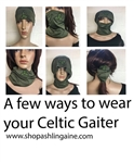 Celtic Neck Gaiters, Buff, scarf, headband , Mask , Irish masks, Scottish masks, Welsh Masks, Face Coverings