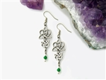 Reflections Emerald /Amethyst Celtic Heart &Trinity/Earrings (HM10)