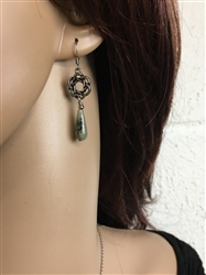 "Flowering JADE Irish Love Knot Teardrop Earrings, (HM106Ear) ""Delicate balance"" Ireland handmade"