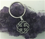 Celtic FATHER & Daughter knot keychain keyring (HM117) Irish, Scottish, Welsh