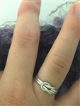 "HANDMADE Sterling Silver Two part love knot ring (HM16) ""We are better together"""