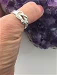 "HANDMADE Sterling Silver Two part Infinity Love Knot Ring (HM16L)""We are better together"""
