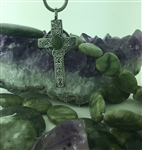 Connemara Marble Stone Castledermot South Cross on a Chain, (HM21) Irish historical cross, Irish jewelry