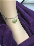 Connemara Marble Heart Trinity ANKLET Irish Ireland (HM23ANKLE)