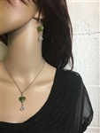 Connemara Marble Trinity Heart Necklace Ireland (HM23NECK) Handmade