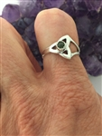 Connemara Sterling Silver Modern Trinity Knot Ring (HM42) Ireland Irish Ring