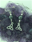 Hematite Trinity Tear Drop Earrings, (HM48) Irish, Scottish Handmade Earrings
