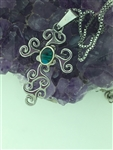 ABALONE Triskele Journey Cross Necklace, HM56 Celtic Cross. Irish Cross, Scottish Cross, triskelion, Celtic Jewelry