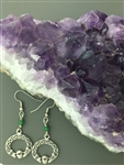 Emerald Claddagh Earrings (HM6) Hand Crafted Natural Emeralds ,Irish Ireland Earrings.