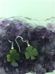 Shamrock Knot Connemara Marble Earrings, (HM64) Ireland Handmade
