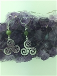 Triskelion Connemara Celtic Earring , (HM67), Triskele ,Irish, Scottish , Newgrange .Welsh, Faith Symbol ( S197)