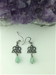 Aventurine Sister's/Family Knot Earrings(HM75) Heart and Trinity Handmade Earrings