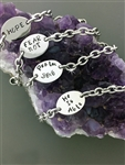 Encourage Me! Hand forged Charm Trinity Knot Bracelets and Anklets Custom (HMwordBRA)