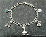 Personalized Irish Dance Charm Bracelet