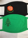 Celtic Pumpkin & Celtic Christmas Tree Holiday Face Masks Made in the USA Irish Holiday Mask