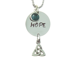 """With God, all things are Possible"" HOPE Trinity Necklace."
