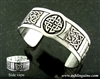Pewter Celtic Five- Knot Cuff Bracelet (#JPEW5023)