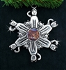 Pewter Cat Photo SnowWonders® Snowflake Ornament/Pendant (#JPEW5184)