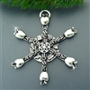 Pewter Teacher SnowWonders® Snowflake Ornament/Pendant (#JPEW5185)