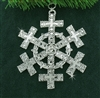 Pewter Celtic Cross SnowWonders® Snowflake Ornament/Pendant (#JPEW5195)