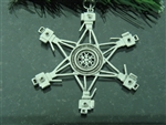 Pewter Photography SnowWonders® Snowflake Ornament/Pendant (#JPEW5331)