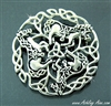 Celtic Pictish Trinity Horse Brooch (#JPEW5460)