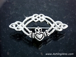 Claddagh & Celtic Knot Pin (#JPEW5505)