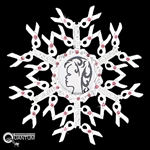 Pewter Ribbons of Hope CZ  Photo Insert SnowWonders® Snowflake (#JPEW5569)