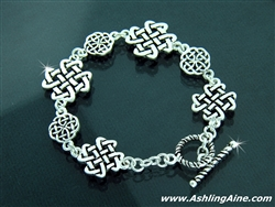 Celtic Love Knot Toggle Bracelet (#JPEW5587)