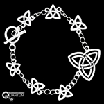 Celtic Celebration of Trinity Knot Toggle Bracelet (#JPEW5893)