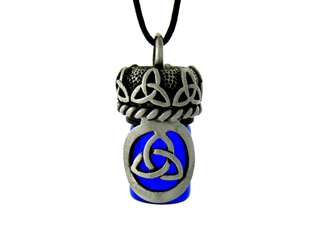 Pewter Celtic Trinity Knot Aromatherapy Keepsake Vial 36' Cord (#JPEW5922)