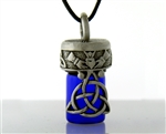 Pewter Celtic Trinity Knot & Claddagh Aromatherapy Keepsake Vial (#JPEW5923)