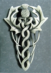 Pewter Scottish Thistle and Knotwork Kilt Pin (#JPEW5966)