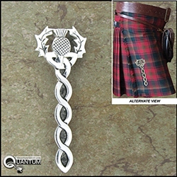 Pewter Scottish Thistle Kilt Pin (#JPEW5967)