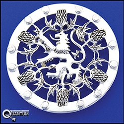Pewter Rampant Lion and Thistle Pin (#JPEW5997)