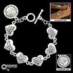 Pewter Be A Voice Scripture Bracelet (#JPEW6050)