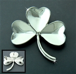 Pewter Irish Shamrock Pin/Pendant